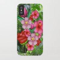 emoji iPhone & iPod Cases featuring Flower Emoji by jajoão