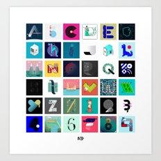 36 Days of Type - 2017 Art Print