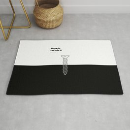 Lab No. 4 - Screw It Lets Do It Richard Branson Corporate Startup Quotes Poster Rug