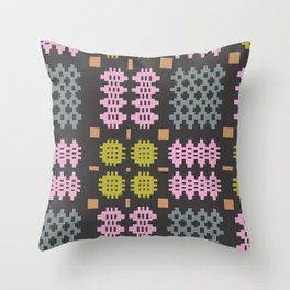 Welsh Tapestry Charcoal Throw Pillow