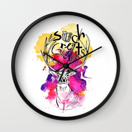 Such Great Heights Wall Clock