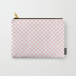 Large Millennial Pink Pastel Round Spots On White Carry-All Pouch