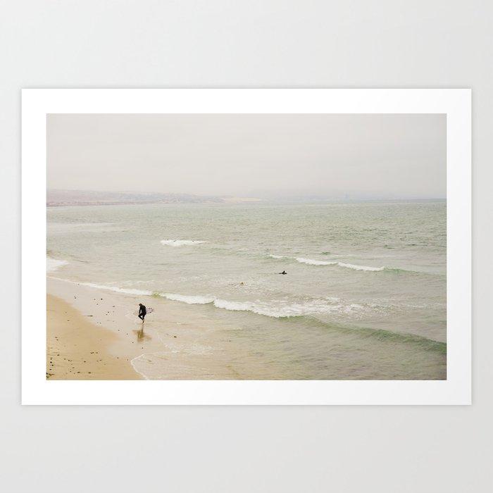 Hazy Surf Art Print