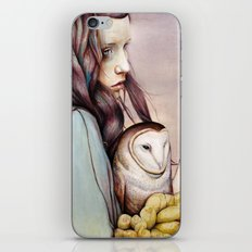 The Girl and the Owl iPhone Skin