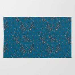 Ditsy Flowers - Blue Rug