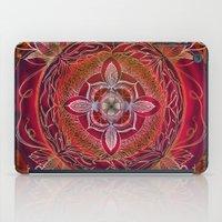 chakra iPad Cases featuring Root Chakra by brenda erickson