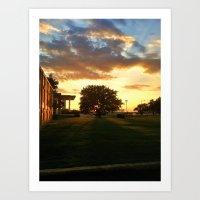 West Texas Skies Art Print
