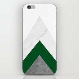 Marble Green Concrete Arrows Collage iPhone Skin