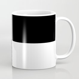 Black and White Color Block #2 Coffee Mug