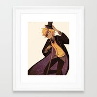 bill cipher Framed Art Prints featuring bill cipher by Sunny