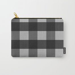 Black on Silver Buffalo Plaid   Carry-All Pouch