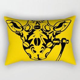 Coffee Giraffe Rectangular Pillow