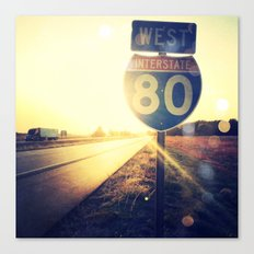Highway 80 West Canvas Print