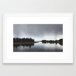 Storm watch at Yellowstone Framed Art Print