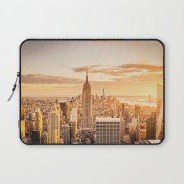 New York City- Empire State Building at sunset Laptop Sleeve