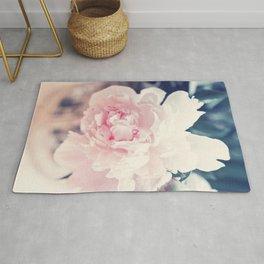 Beautiful Peony Flower Art Rug
