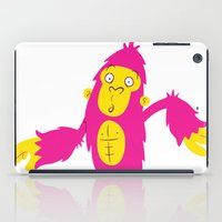 bigfoot iPad Cases featuring Bigfoot is Pink by Ink Robin