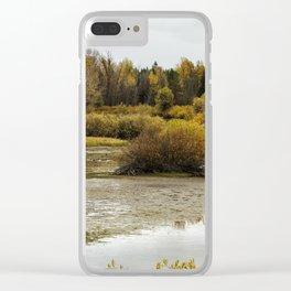 Snake River near Cattleman's Bridge Site Panoramic -  Grand Tetons Clear iPhone Case