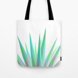 Tropical Allure - Green & Grey on White Tote Bag