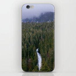 Waterfall in gifford-pinchot national forest, washington iPhone Skin