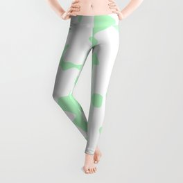 Large Spots - White and Mint Green Leggings