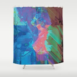 Glitchy 3 Shower Curtain