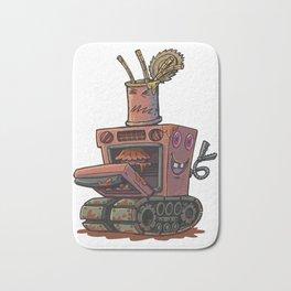 Robot pie thrower Bath Mat