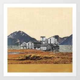 Base of the Mountains Art Print