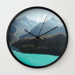 Brilliant Blue Diablo Lake II Wall Clock
