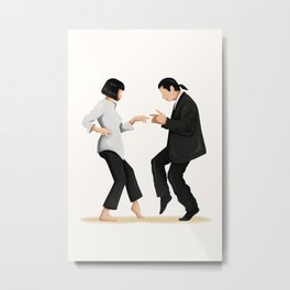 Pulp Fiction Twist Dance Music Poster, Pop Culture Iconic Print, Gift for Her, Fun Pop Art Wall Art, Dancing Gift, Film Poster, Dance Move Metal Print
