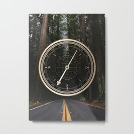 Gold Compass - The Road to Wisdom Metal Print