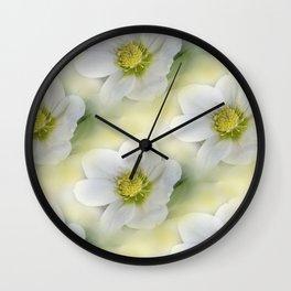 flowers -10- seamless pattern Wall Clock