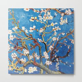 Van Gogh Branches of an Almond Tree in Blossom Metal Print