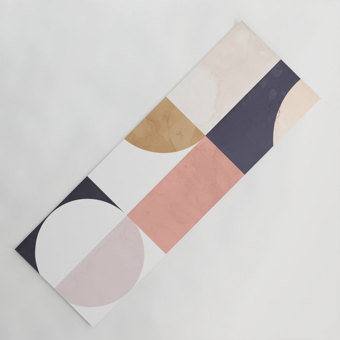 abstract shapes yoga mat for college