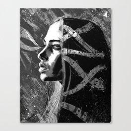 Fiona Apple b&w Canvas Print
