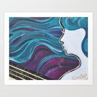 Lady Star Art Print