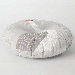 Brolga, Bird of Australia Floor Pillow
