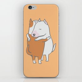 Bull Terrier Hugs iPhone Skin