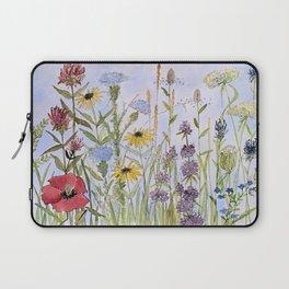 Wildflower Garden Watercolor Flower Illustration Laptop Sleeve