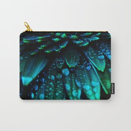 Gerbera Daisy Flower - Midnight Blue Floral Print - Flower photography by Ingrid Beddoes Carry-All Pouch