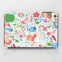 studio ghibli iPad Cases featuring Ponyo Pattern - Studio Ghibli by Teacuppiranha