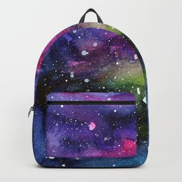 Galaxy Watercolor Night Sky Painting Nebula Art Backpack