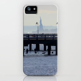 Statue of Liberty at a Distance iPhone Case