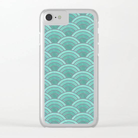 Lovely Pattern VII Clear iPhone Case