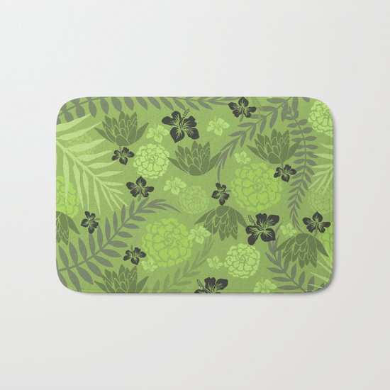 Greenery Floral Bath Mat