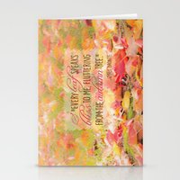 poem Stationery Cards featuring Autumn Leaves Poem by Graphic Tabby