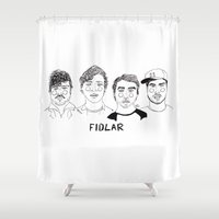 cactei Shower Curtains featuring Fidlar by ☿ cactei ☿