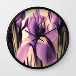 Soft Iris Wall Clock