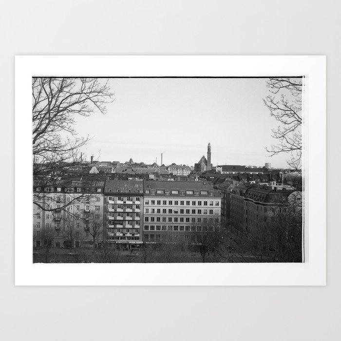 Stockholm rooftops Art Print