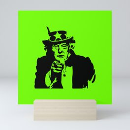 Neon Green Uncle Trump Needs You Mini Art Print
